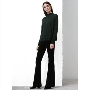 J Brand Maria Flare Black Velvet Jeans Pants 25